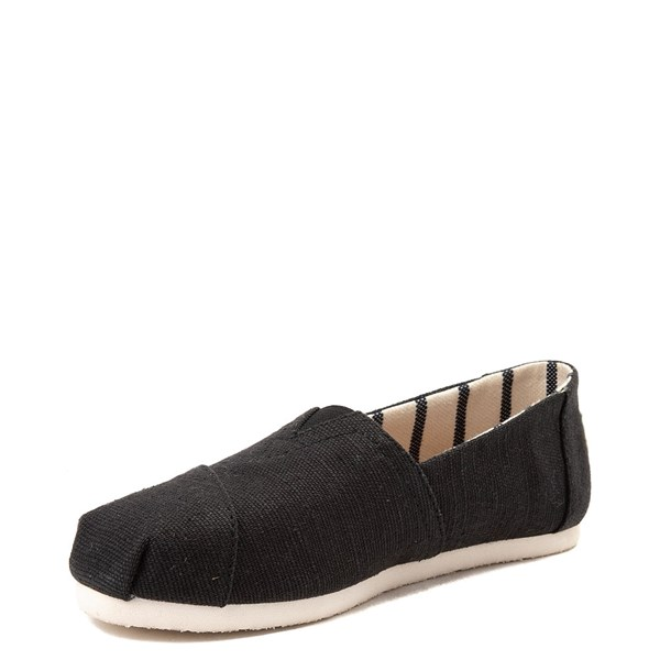 alternate view Womens TOMS Classic Slip On Casual Shoe - BlackALT3