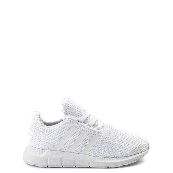 Main view of adidas Swift Run Athletic Shoe - Little Kid - White Monochrome