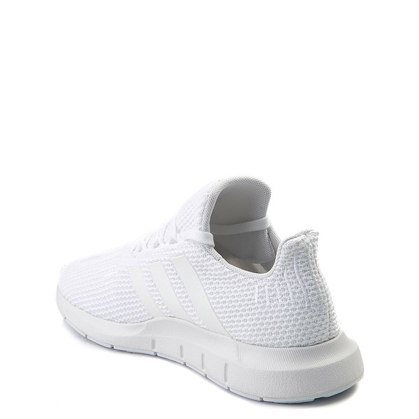 alternate view adidas Swift Run Athletic Shoe - Little Kid - White MonochromeALT2