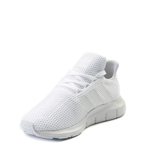 alternate view adidas Swift Run Athletic Shoe - Little Kid - White MonochromeALT3
