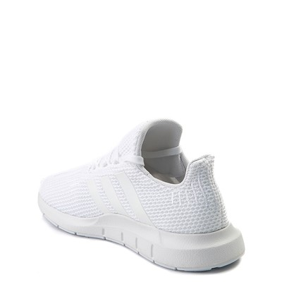 Alternate view of adidas Swift Run Athletic Shoe - Little Kid - White Monochrome