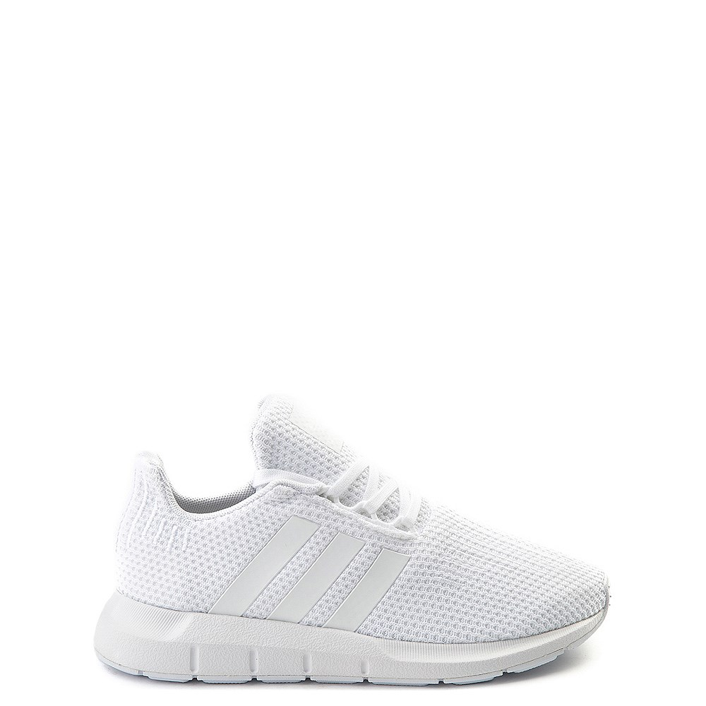 adidas Swift Run Athletic Shoe - Little Kid - White Monochrome