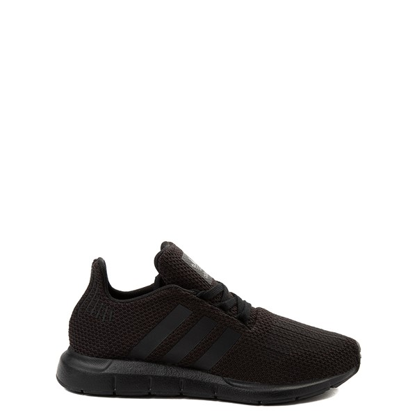 adidas Swift Run Athletic Shoe - Little Kid - Black Monochrome