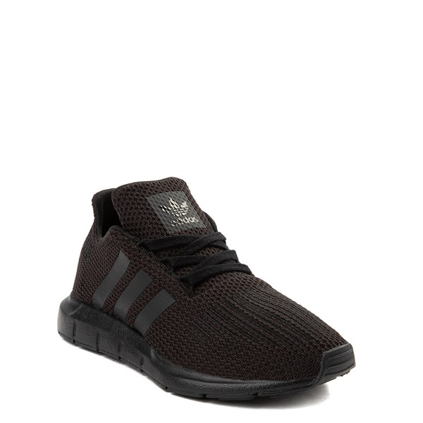 alternate view adidas Swift Run Athletic Shoe - Little Kid - Black MonochromeALT5