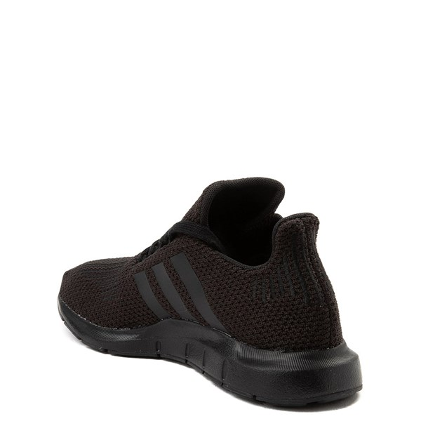 alternate view adidas Swift Run Athletic Shoe - Little Kid - Black MonochromeALT2