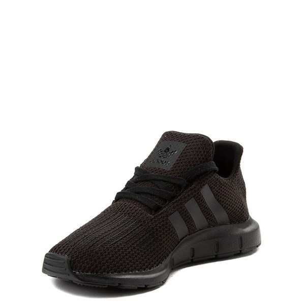 alternate view adidas Swift Run Athletic Shoe - Little Kid - Black MonochromeALT3