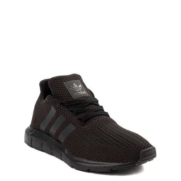 alternate view adidas Swift Run Athletic Shoe - Big Kid - Black MonochromeALT1