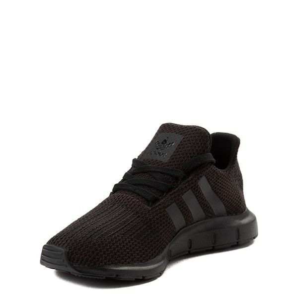 alternate view adidas Swift Run Athletic Shoe - Big Kid - Black MonochromeALT3