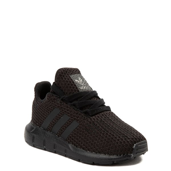 alternate view adidas Swift Run Athletic Shoe - Baby / Toddler - Black MonochromeALT1