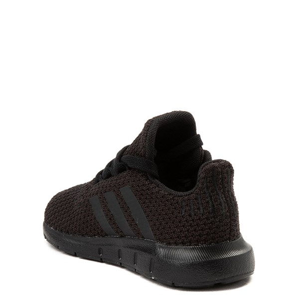 alternate view adidas Swift Run Athletic Shoe - Baby / Toddler - Black MonochromeALT2