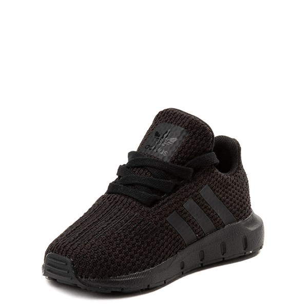 alternate view adidas Swift Run Athletic Shoe - Baby / Toddler - Black MonochromeALT3
