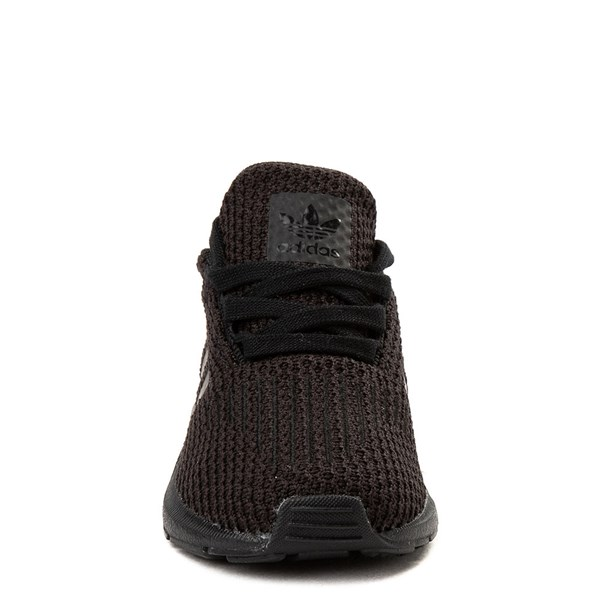alternate view adidas Swift Run Athletic Shoe - Baby / Toddler - Black MonochromeALT4