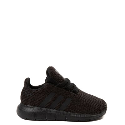 Main view of adidas Swift Run Athletic Shoe - Baby / Toddler - Black Monochrome