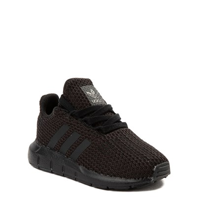 Alternate view of adidas Swift Run Athletic Shoe - Baby / Toddler - Black Monochrome