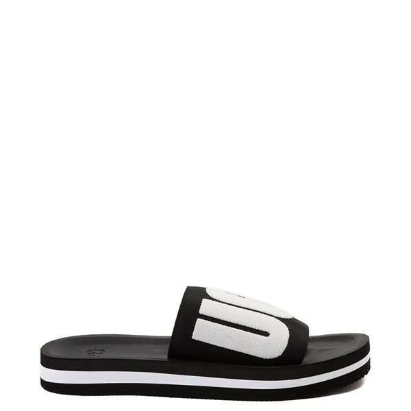 Womens UGG® Zuma Graphic Slide Sandal - Black