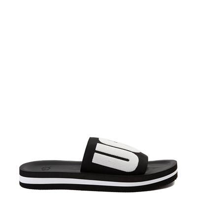 Main view of Womens UGG® Zuma Graphic Slide Sandal - Black