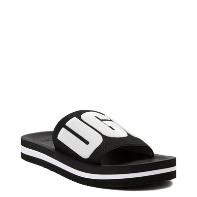 Alternate view of Womens UGG® Zuma Graphic Slide Sandal - Black