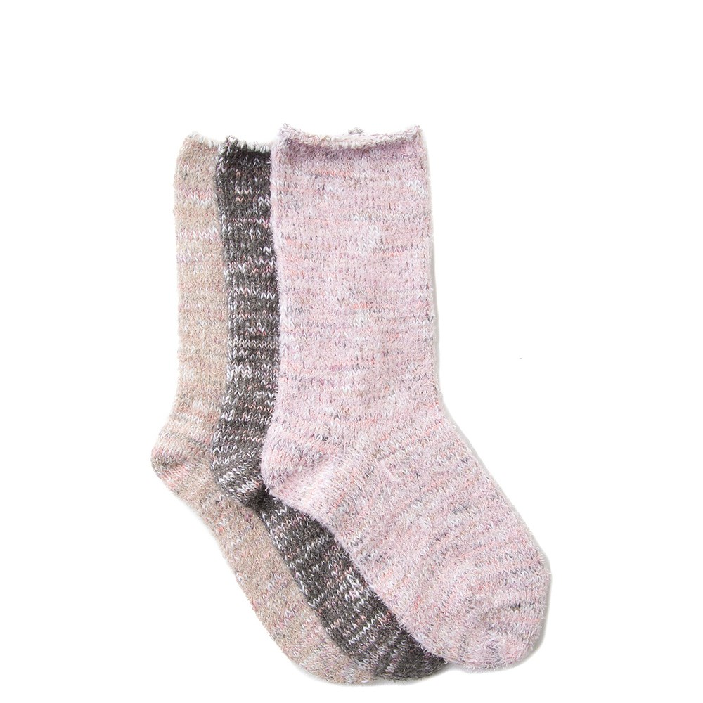 Soft Marled Crew Socks 3 Pack - Girls Little Kid