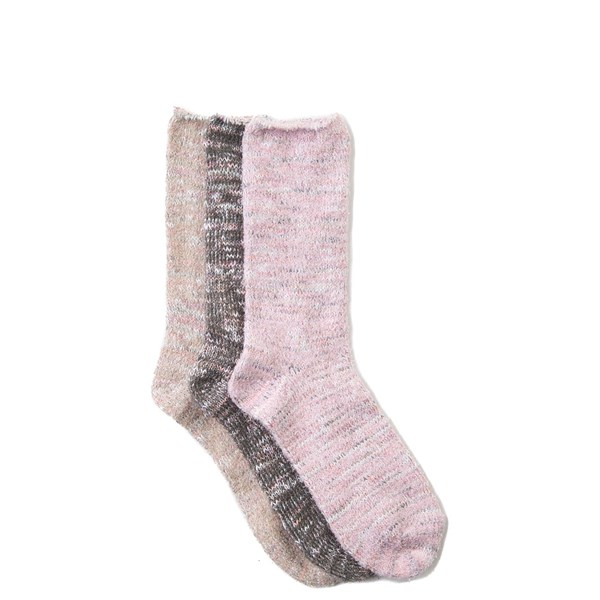 Soft Marled Crew Socks 3 Pack - Girls Big Kid