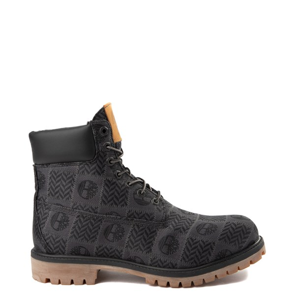 "Mens Timberland 6"" Premium Patch Boot - Black / Gray"