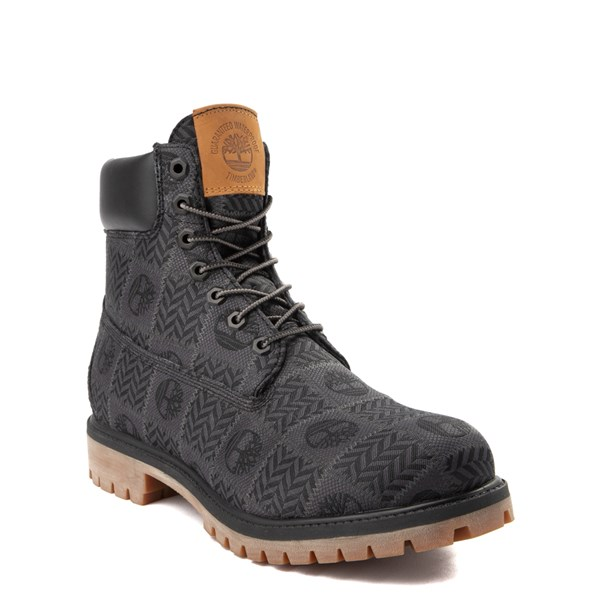 "Alternate view of Mens Timberland 6"" Premium Patch Boot - Black / Gray"