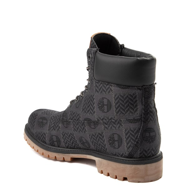 "alternate view Mens Timberland 6"" Premium Patch Boot - Black / GrayALT2"