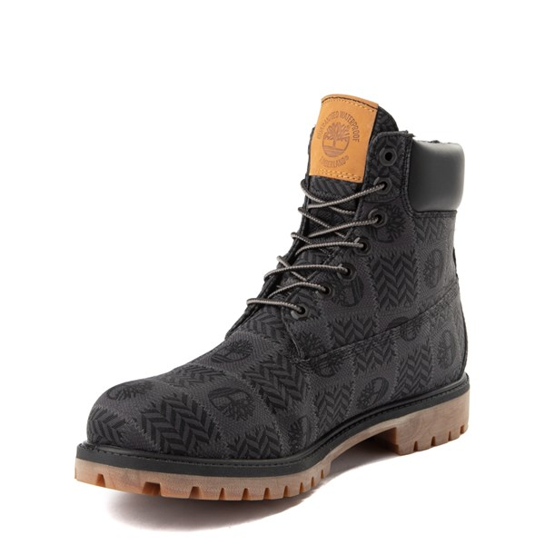 "alternate view Mens Timberland 6"" Premium Patch Boot - Black / GrayALT3"