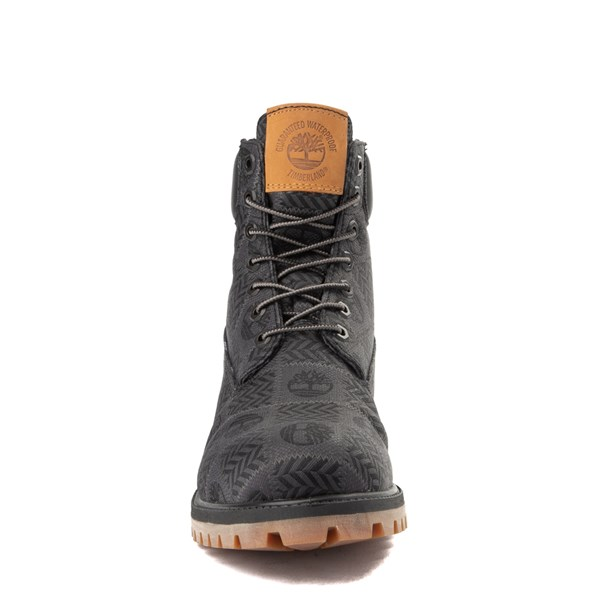 "alternate view Mens Timberland 6"" Premium Patch Boot - Black / GrayALT4"
