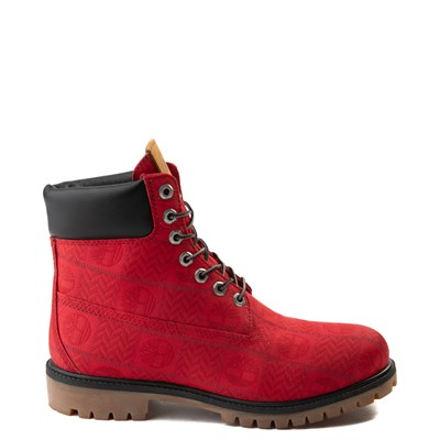 "Main view of Mens Timberland 6"" Premium Patch Boot - Red"