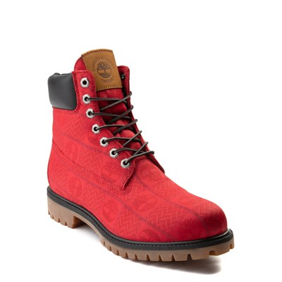 "Alternate view of Mens Timberland 6"" Premium Patch Boot - Red"