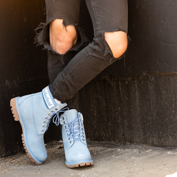 "alternate view Mens Timberland 6"" Classic Boot - Cornflower BlueB-LIFESTYLE1"