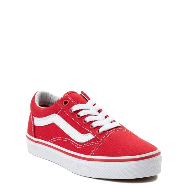 alternate view Vans Old Skool Skate Shoe - Little Kid - Racing Red / WhiteALT1
