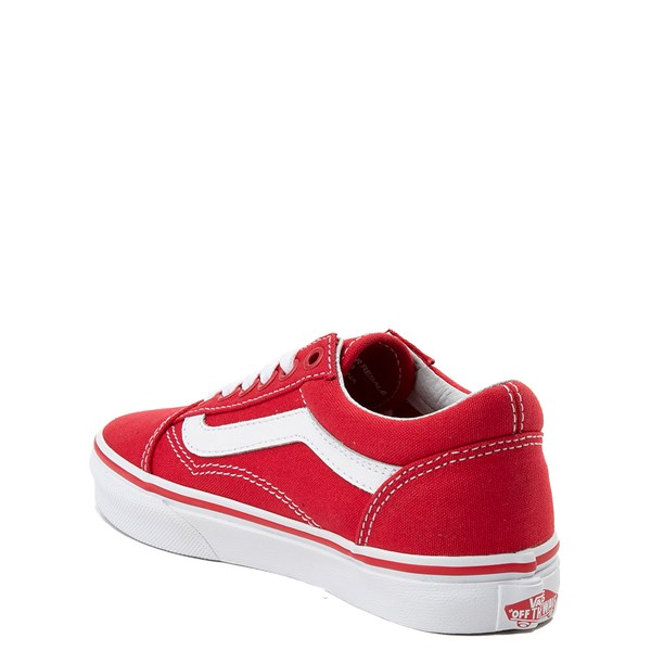 alternate view Vans Old Skool Skate Shoe - Little Kid - Racing Red / WhiteALT2