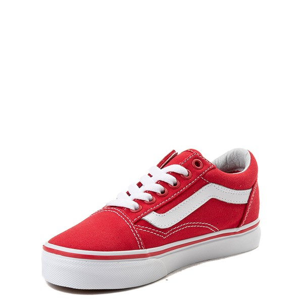 alternate view Vans Old Skool Skate Shoe - Little Kid - Racing Red / WhiteALT3
