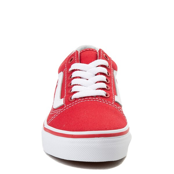 alternate view Vans Old Skool Skate Shoe - Little Kid - Racing Red / WhiteALT4