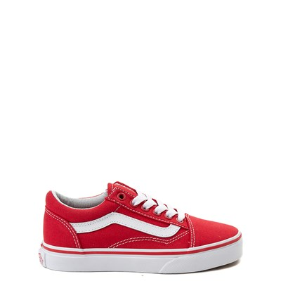 Main view of Vans Old Skool Skate Shoe - Little Kid - Racing Red