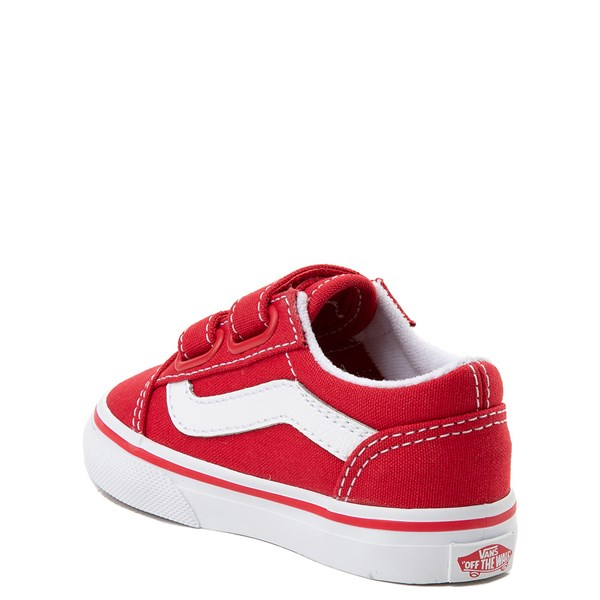 alternate view Vans Old Skool V Skate Shoe - Baby / Toddler - Racing RedALT2