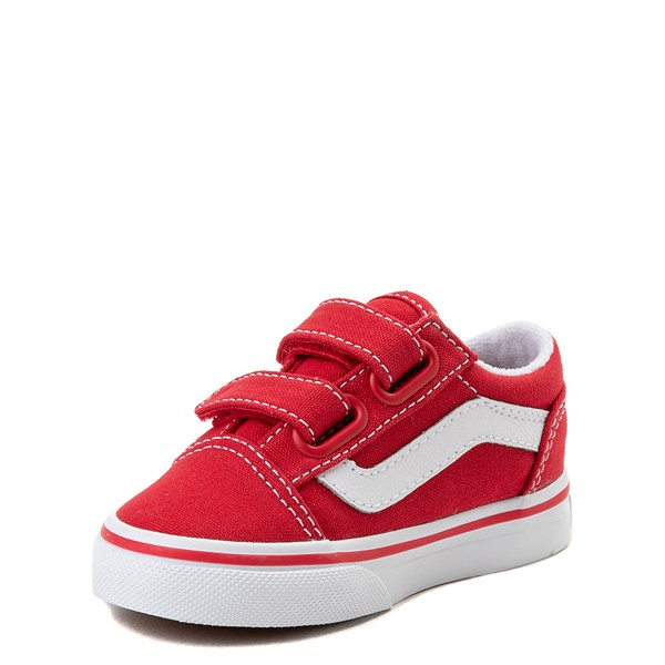 alternate view Vans Old Skool V Skate Shoe - Baby / Toddler - Racing RedALT3