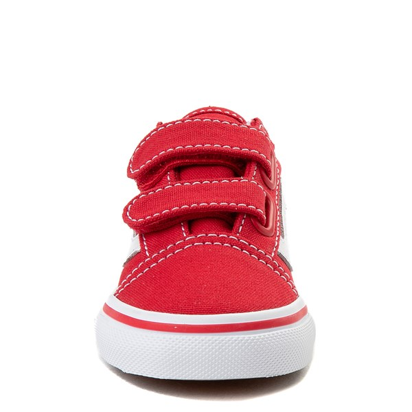 alternate view Vans Old Skool V Skate Shoe - Baby / Toddler - Racing RedALT4