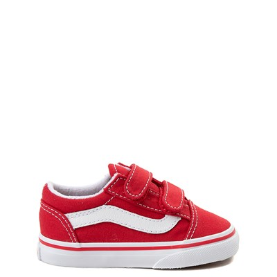 Main view of Vans Old Skool V Skate Shoe - Baby / Toddler - Racing Red