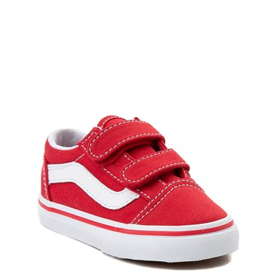 Alternate view of Vans Old Skool V Skate Shoe - Baby / Toddler - Racing Red