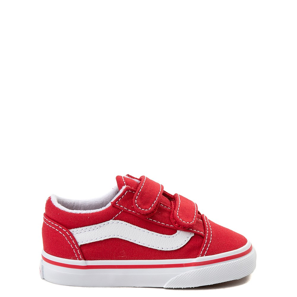 Vans Old Skool V Skate Shoe - Baby / Toddler - Racing Red