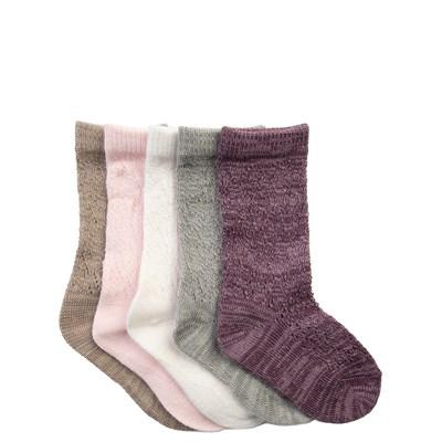 Girls Toddler Pointelle Crew Socks 5 Pack