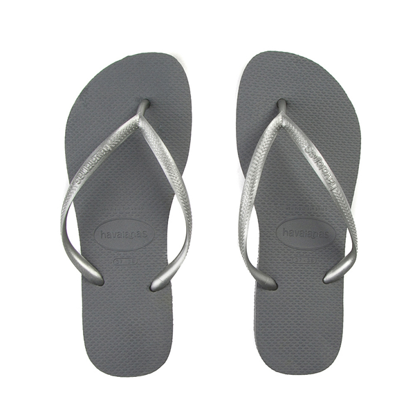 Main view of Womens Havaianas Slim Metallic Sandal - Gray