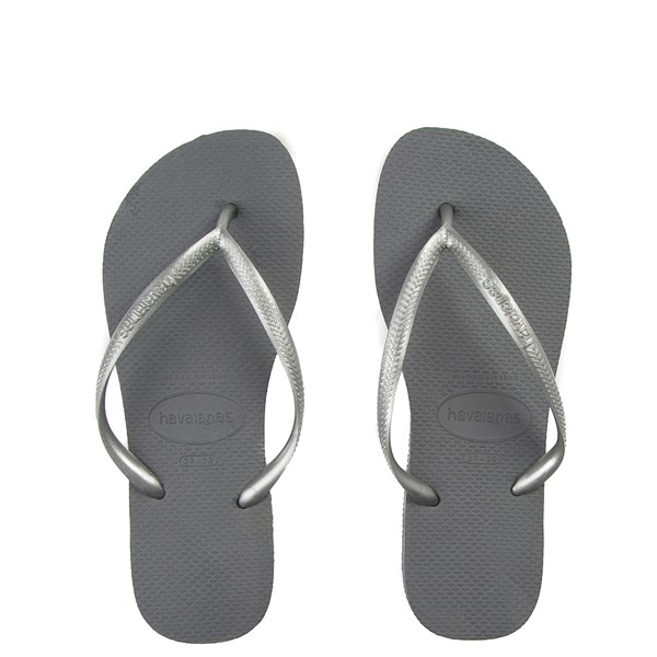 Womens Havaianas Slim Metallic Sandal - Gray