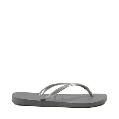Alternate view of Womens Havaianas Slim Metallic Sandal - Gray