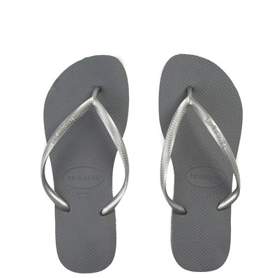 Main view of Womens Havaianas Slim Metallic Sandal - Gray