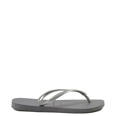 Alternate view of Womens Havaianas Slim Metallic Sandal - Gray