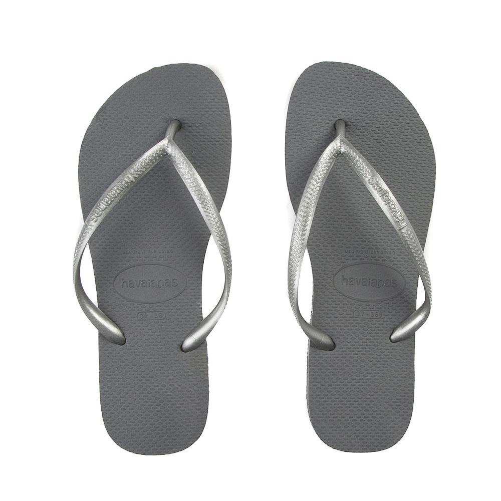 Womens Havaianas Slim Metallic Sandal - Gray