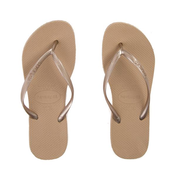 Womens Havaianas Slim Metallic Sandal - Rose Gold